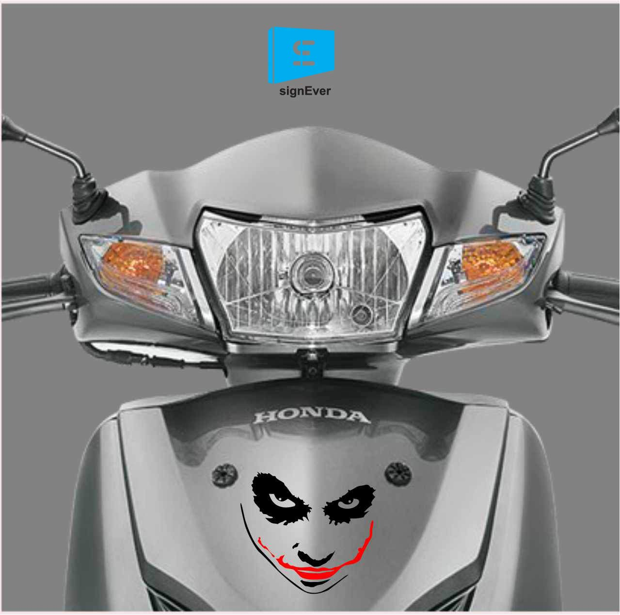 Sign ever activa stickers honda red and black joker bikes sides helmet hood l x h 15 x 8 cms amazon in car motorbike