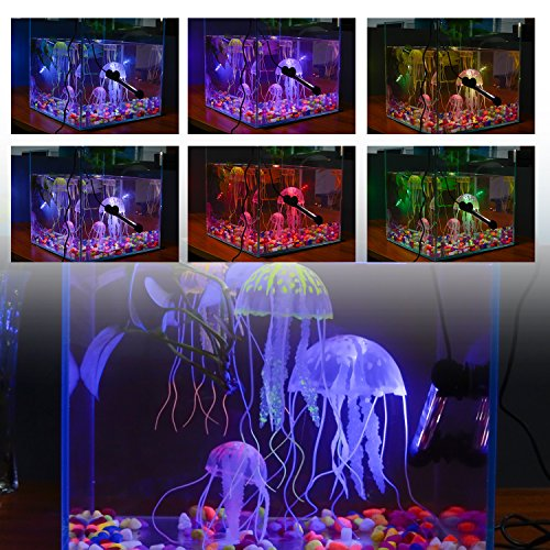 LED Aquarium Light, Smiful Fish Tank 16 Color 4 Modes RGB Lights Submersible Underwater Crystal Glass Lights with Wireless Remote Control, 7.5'' - Multi Color (Colorful) by S SMIFUL (Image #6)