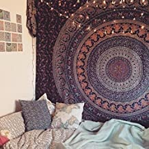 TWIN HIPPIE INDIAN TAPESTRY ELEPHANT MANDALA THROW WALL HANGING GYPSY BEDSPREAD Tapestries,bed sheets ,bed spread,hippy bed sheets,wall hangings,ethnic by ArtBoxStore