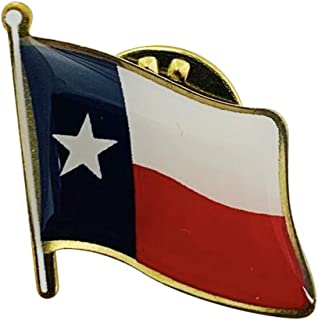 product image for Set of 3 Texas Single Waving State Flag Lapel Pin - Made in The USA