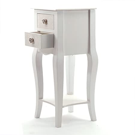 Charmant COUNTRY SIDE STYLE TELEPHONE TABLE SISSY | 2 Drawers, 26u0026quot;, Antique  White