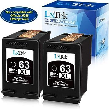 Amazon.com: HP 63XL cartuchos reciclados, negro, (2) Pack ...