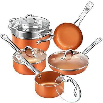 Shinueri Non-stick Copper Cookware Set