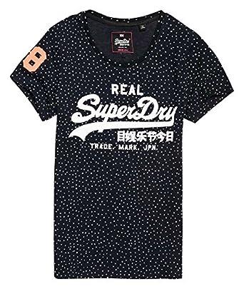 Superdry G10014IP, Camiseta para Mujer, BLU (Eclipse Navy), Large
