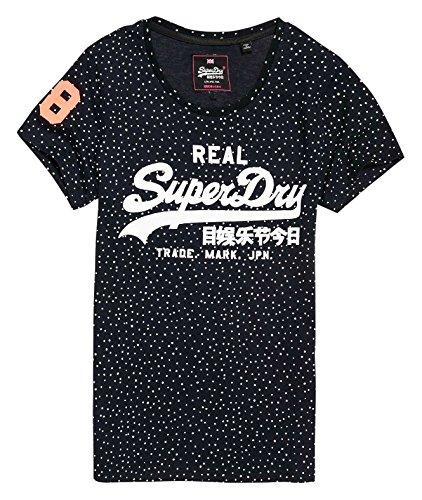 Superdry G10014IP, Camiseta para Mujer, Grigio (Ice Marl), Large