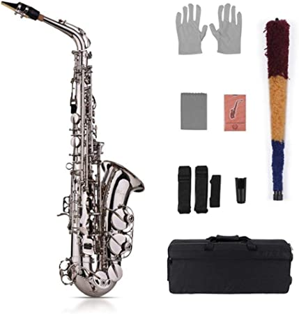 ABMBERTK Kit de saxofón Alto EB, Tipo de Llave 802 de latón saxofón Dorado, con Estuche Acolchado, Correas de saxofón de Cepillo de Tela, tecla 802 tipo2: Amazon.es: Hogar