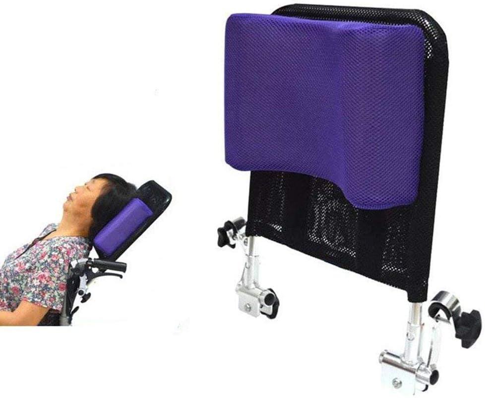 Apoyacabeza para silla de ruedas Soporte para el cuello Cojín transpirable Ángulo ajustable Aumento Backres Malla transpirable Fácil de desmontar,Purple