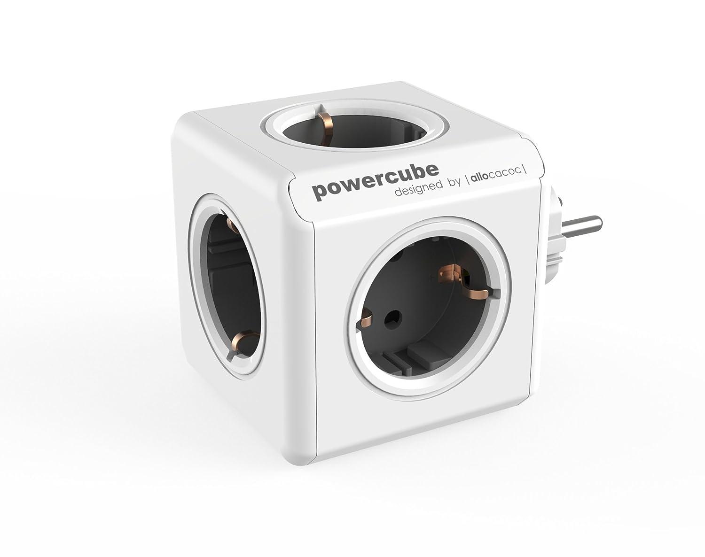 allocacoc Power Cube 1100GY//DEORPC Chargeur extendeur pour Smartphone//Tablette USB 2.1 Argent//Blanc