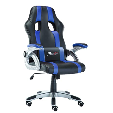 Terrific Jr Knight Ergonomics Gaming Chair Sporty Racer Chair Updated Version High Back Faux Leather Executive Desk Chair Free Swivel Rocking Design With Dailytribune Chair Design For Home Dailytribuneorg