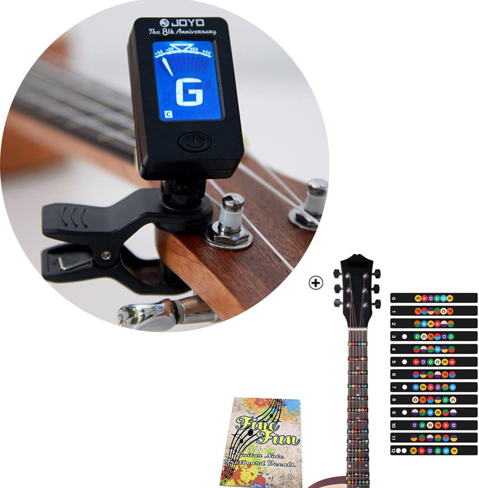 Pegatina para afinador de guitarra y diapasón para notas, para ...