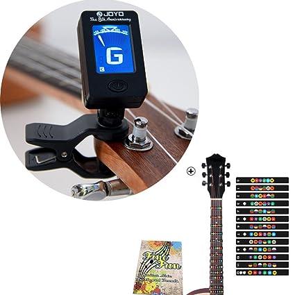 Pegatina para afinador de guitarra y diapasón para notas, para principiantes, aprendices, práctica