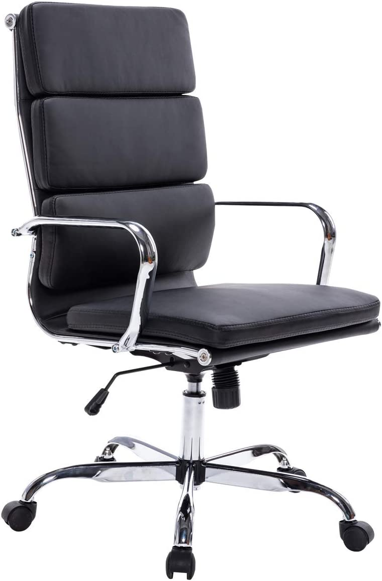 Sidanli Black Office Chair, Soft Computer Chair with Modern Design.