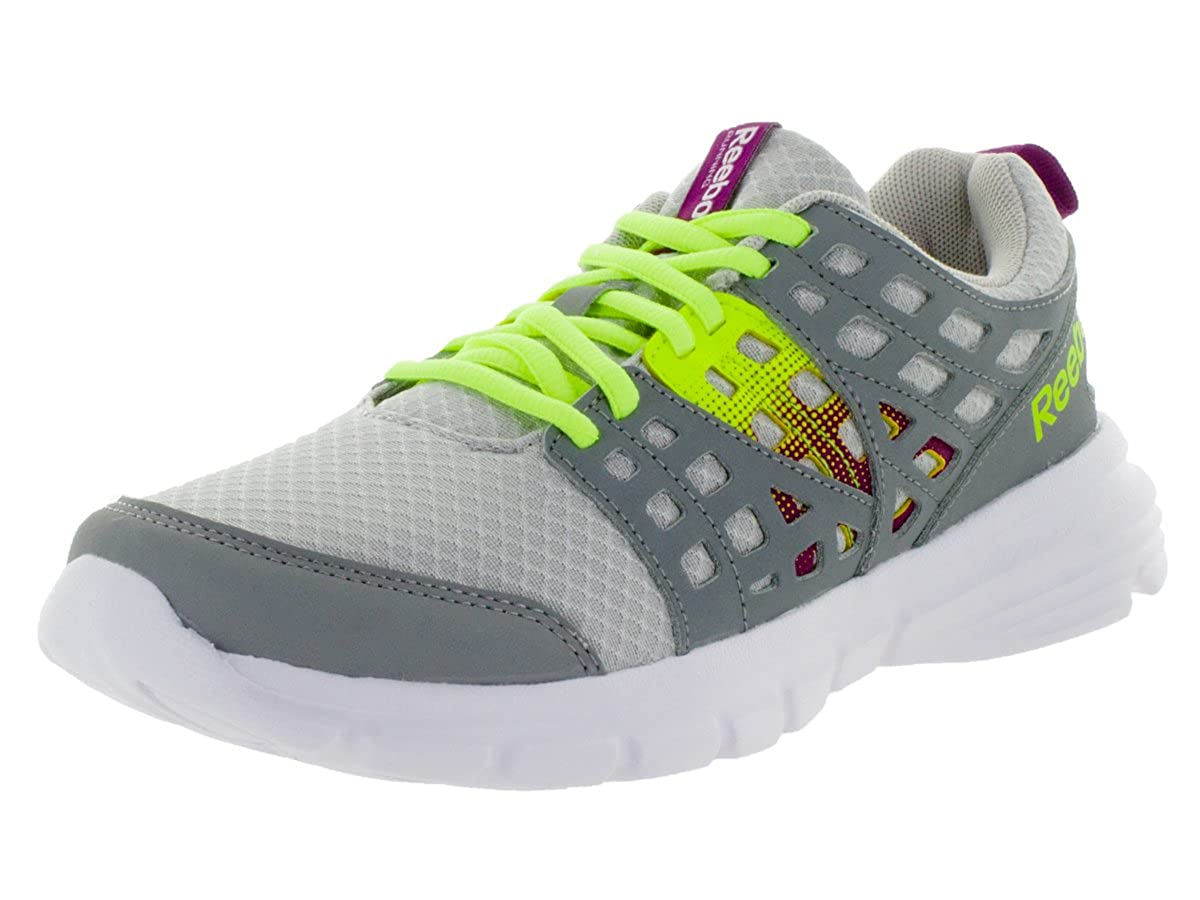 Reebok Womens Speed Rise Steel Grey//Fuchsia//Yllow Running Shoe 8 Women US