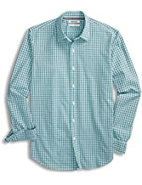 Men's Standard-Fit Long-Sleeve Micro-Check Shirt