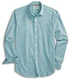 Goodthreads Men's Standard-Fit Long-Sleeve Micro-Check Gingham Shirt, Blue/Aqua, X-Large