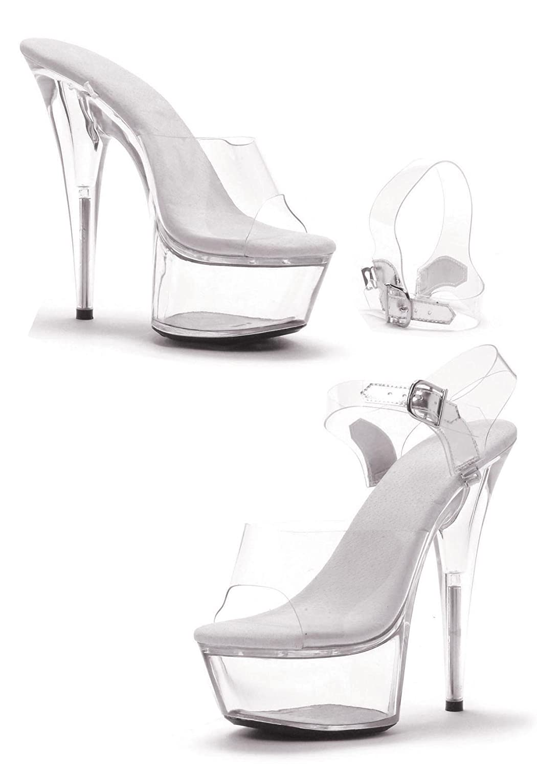 Ellie Shoes 6 Pointed Heel Stiletto W//Removable Ankle Strap.