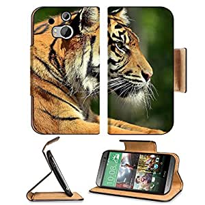 Artistic Animals Tigers Bengal Wild HTC One M8 Flip Case Stand Magnetic Cover Open Ports Customized Made to Order Support Ready Premium Deluxe Pu Leather 6 4/16 Inch (158mm) X 3 4/16 Inch (82mm) X 9/16 Inch (14mm) MSD HTC1 cover Professional M 8 Cases M_8