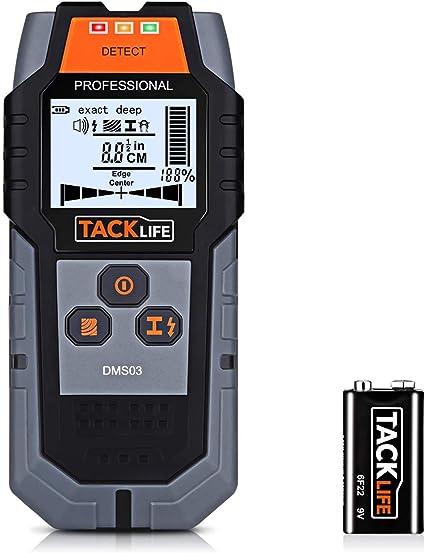 Detector de pared multifuncional Probador de alambre el/éctrico port/átil Analizador de detecci/ón Pantalla LCD Instrumento de detecci/ón para cables de madera Cables Tuber/ías de agua
