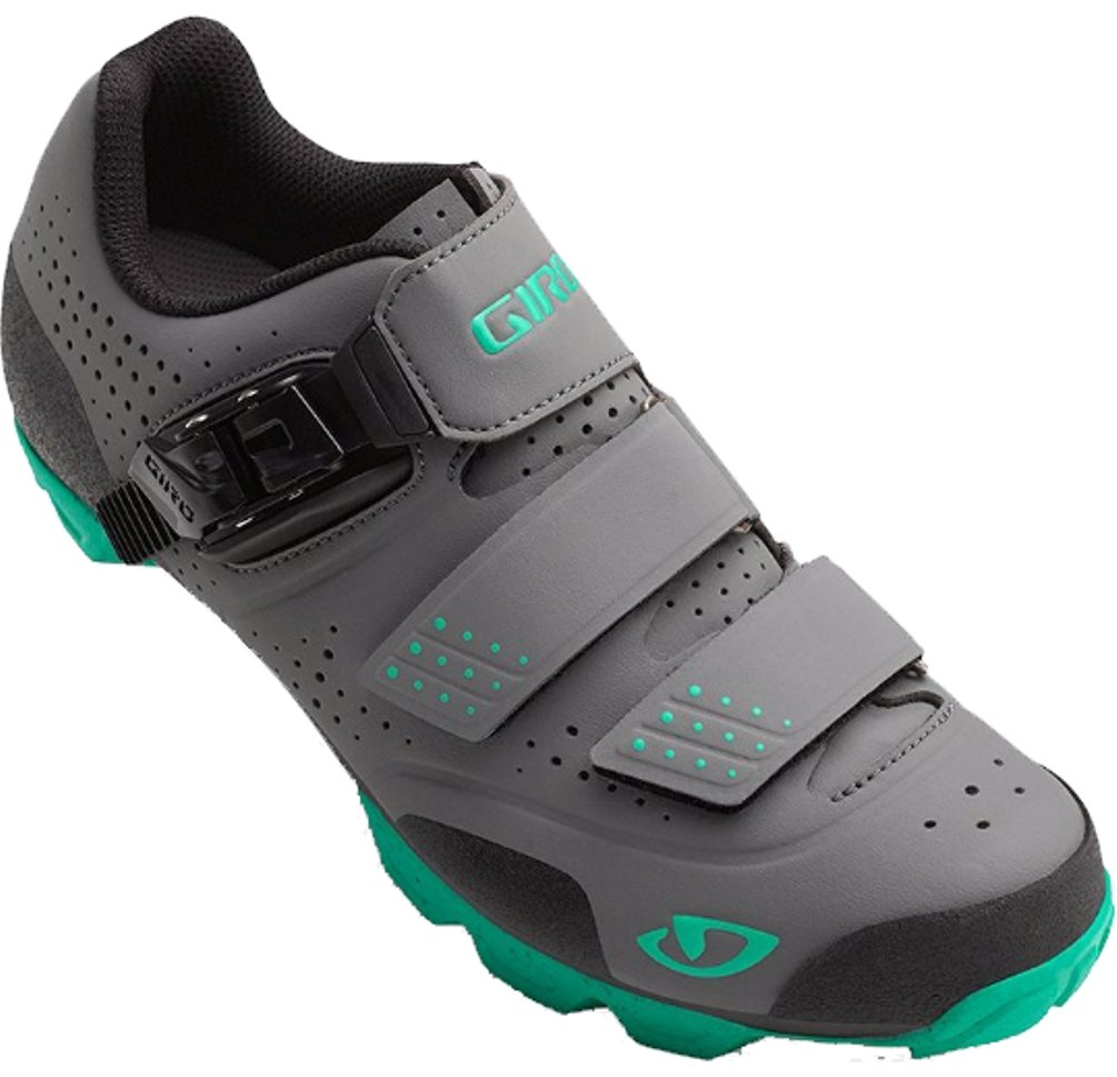 Giro Womens Manta R Dirt Cycling Shoes (Charcoal/Turquoise - 41.5) by Giro