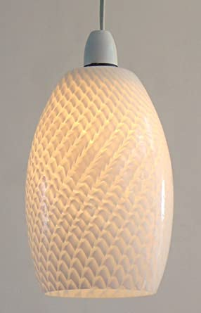 MGL6216-F 15 cm de escamas de pescado Barell lámpara de ...