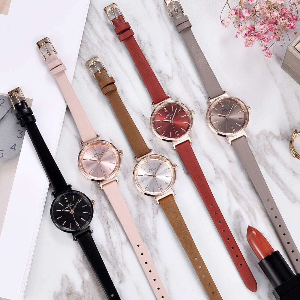 Amazon.com: IBSO Ladies Watches on Clearance Prime Waterproof Best Watch Simple Leather Women Watches on Sale (8688-Brown): Watches