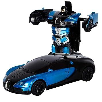 Chen0 Super Transformacion Rc Robot De Control Remoto Bugatti Rambo