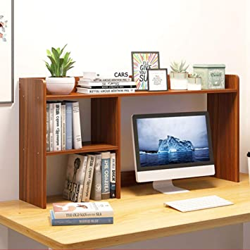 CWJ Estante de escritorio, estante de exhibición multiusos del organizador del almacenamiento del escritorio de la alta capacidad para la mesa de la vanidad del escritorio en el hogar o la oficina,mi: