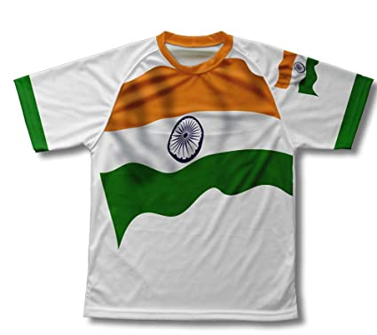 6e4efeb7a ScudoPro India Flag Technical T-Shirt for Men and Women at Amazon ...