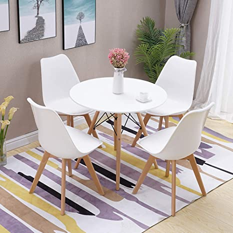 Furniture 80cm Round Dining Table White And 4 Padded Tuilp Chairs Grey Set Kitchen Cafe Uk Home Furniture Diy Breadcrumbs Ie