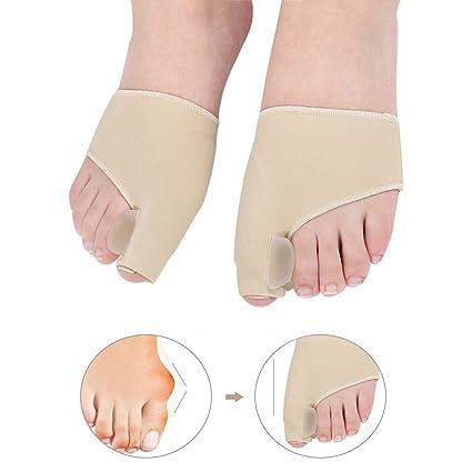 1 par de calcetines de dedo gordo Hallux Valgus corrector ortopédicos para el cuidado de los