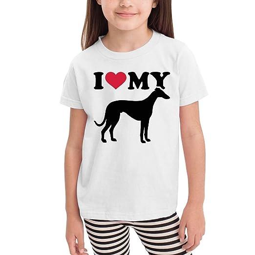 489dd6ae Amazon.com: I Love My Italian Greyhound Cute Kids Boys Girls Crew ...