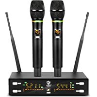 G-MARK X320FM Wireless Microphone Professional UHF System karaoke microphone Flash Match Frequency Adjustable 80M…