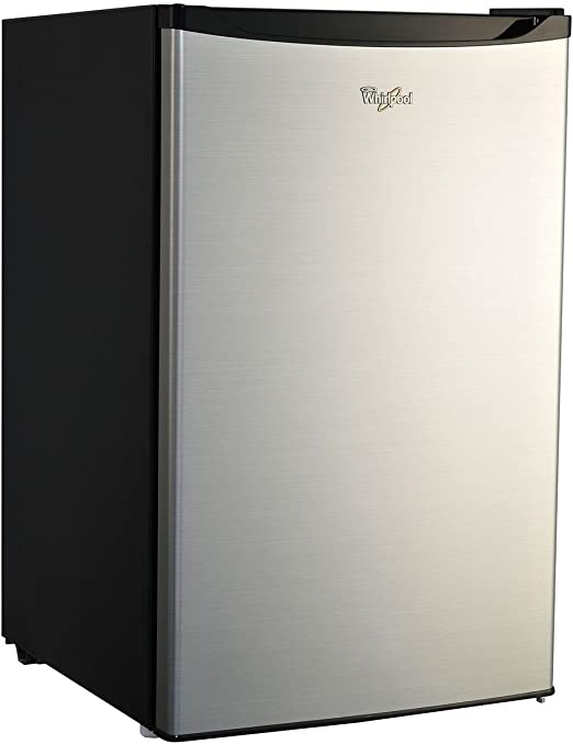 Whirlpool 4 3 Cu Ft Stainless Steel Compact Refrigerator Mini