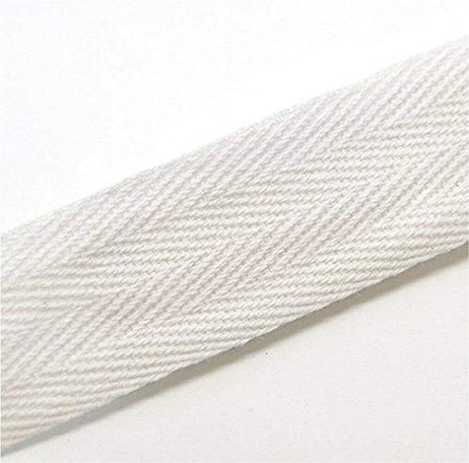 Cinta de sarga de espiga, para costura, cuerda para delantales, de mezcla de algodón, color blanco, 2,5 cm (ancho), 20 metros: Amazon.es: Bricolaje y herramientas