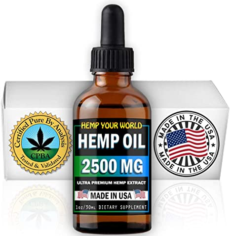 Amazon Com Hemp Your World Hemp Oil Drops Made In Usa 100