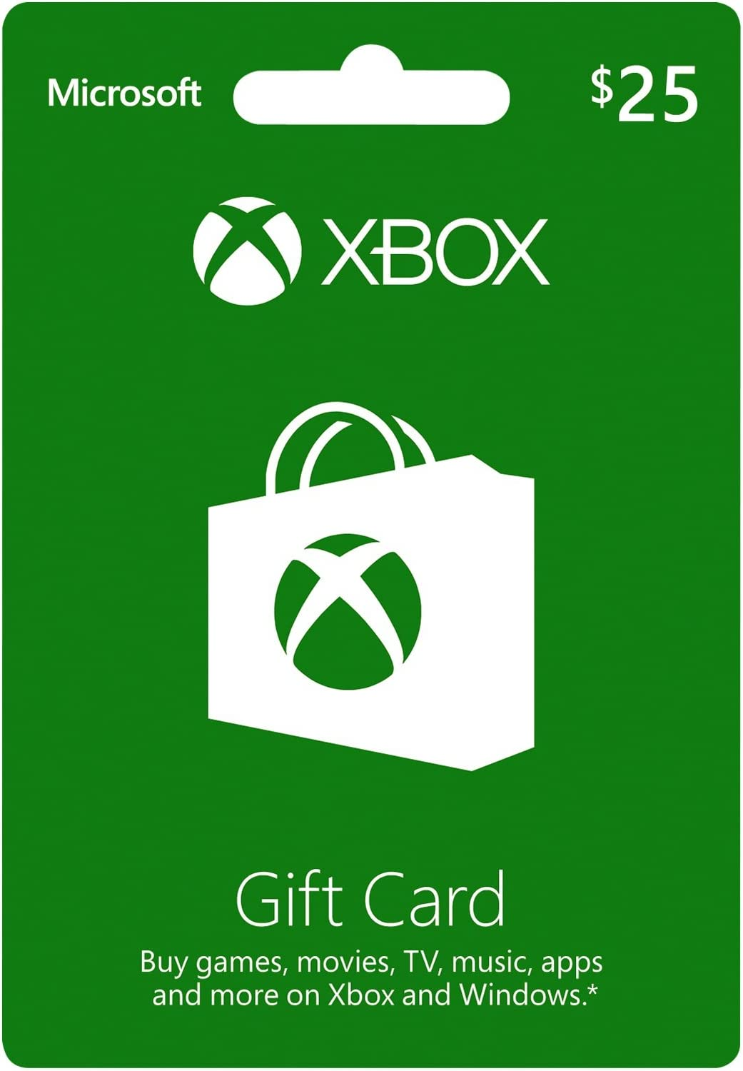 Amazon.com: Tarjeta de regalo Xbox 25: Car Electronics