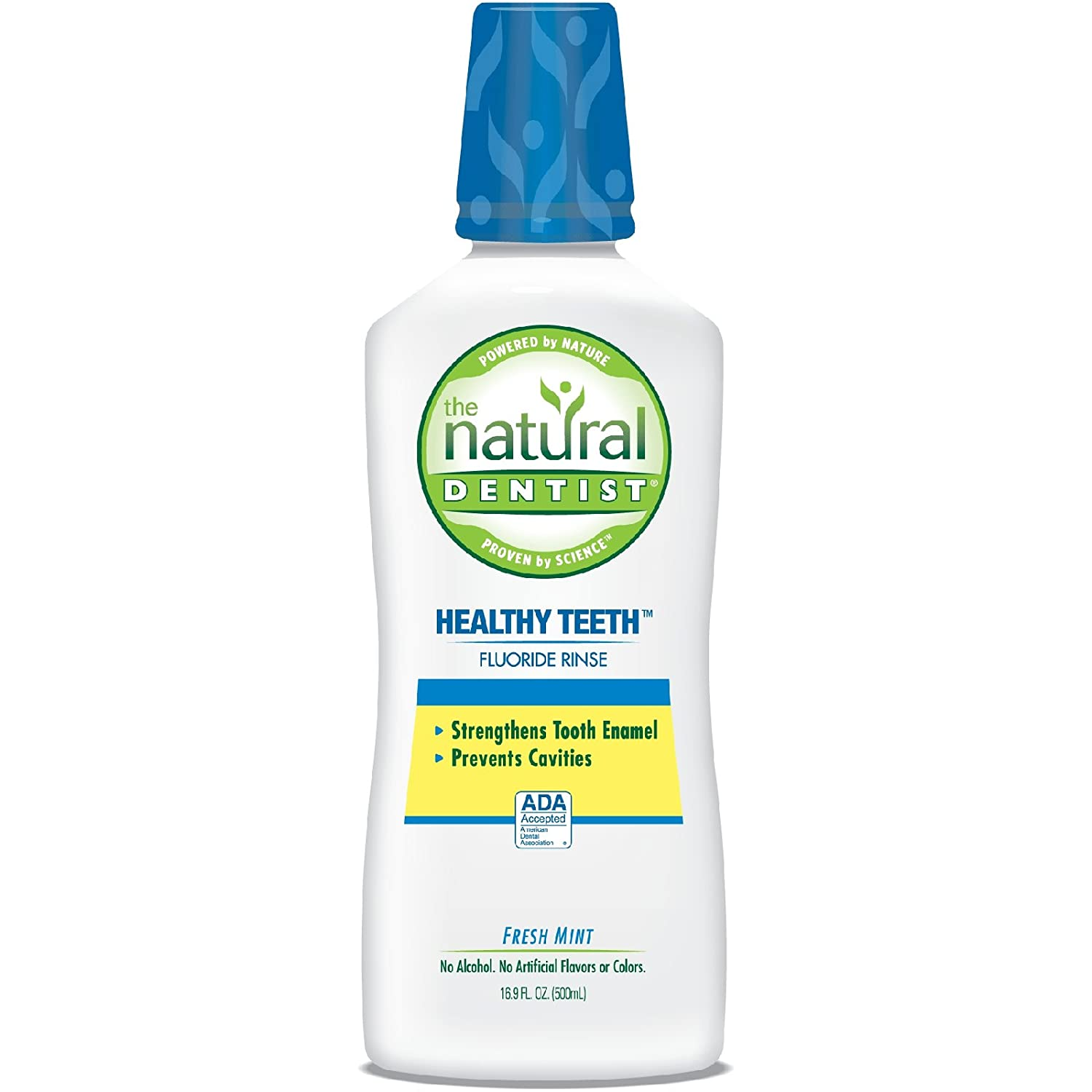 The Natural Dentist Healthy Teeth Anti-Cavity Fluoride Rinse Fresh Mint 16.90 oz (Pack of 4) : Anesthetic Oral Rinses Or Antiseptic Oral Rinses : Beauty