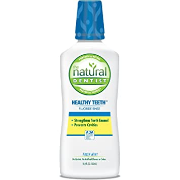 The Natural Dentist Healthy Teeth Anti-Cavity Fluoride Rinse Fresh Mint  16 90 oz (Pack of 2)