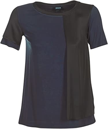 ARMANI Jeans DRANIZ Tops y Camisetas Femmes Marino/Negro Camisetas Manga Corta