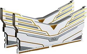OLOy DDR4 RAM 64GB (2x32GB) Warhawk Aura Sync RGB 3200 MHz CL16 1.35V 288-Pin Desktop Gaming UDIMM (MD4U3232161DCWDX)