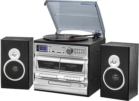Zennox Sistema de música Hi-Fi Midi 7 en 1 con alarma, DAB, AM ...