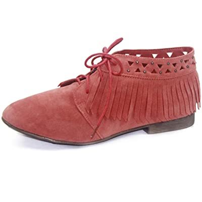 Breckelle's Women's Sandy-24 Laced Up Oxford Fashion Shoes | Oxfords