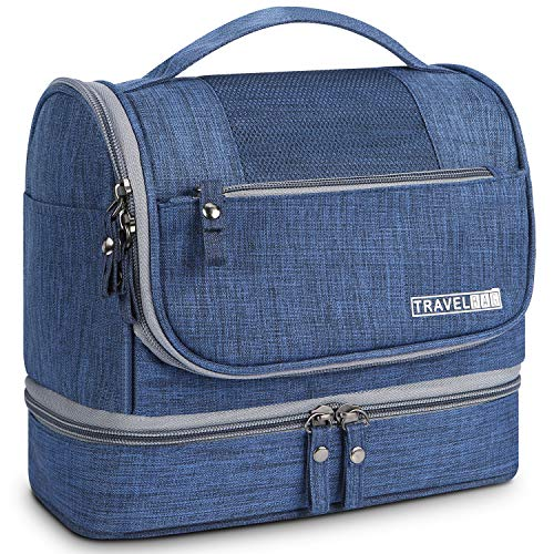 (Toiletry Kit,Mossio Travel Accessories Lightweight Shampoo Shaving Kit Organizer Wash Bag Blue)