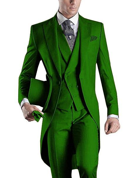 Mens Wedding Attire.Dgmj Mens Suits Slim Fit 3 Piece Formal Wedding Attire Tuxedo Mens