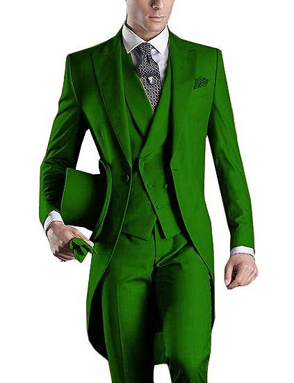 a58fb110283e3 DGMJ Mens Suits Slim Fit 3 Piece Formal Wedding Attire Tuxedo Mens ...