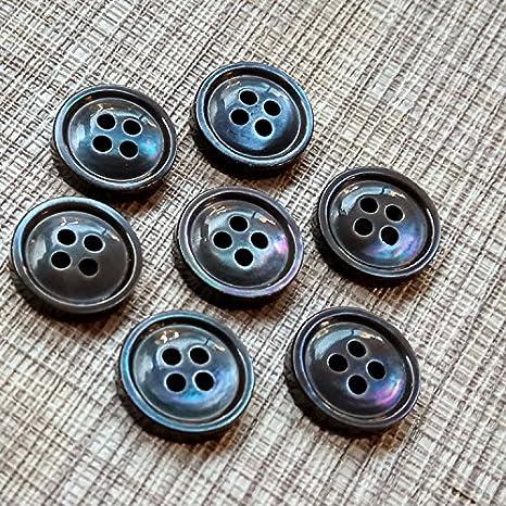 Desconocido Camisa con Botones Negros y Blancos de Alta Gama con Botones de Concha Natural para Coser Manualidades, Ropa Hecha a Mano: Amazon.es: Juguetes y juegos