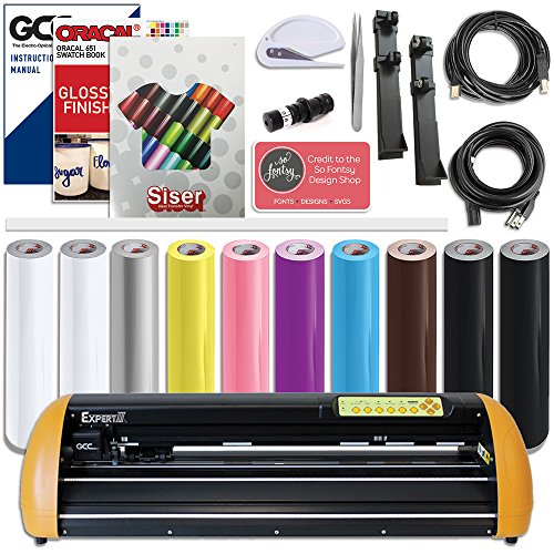 GCC Professional Expert II Vinyl Cutter 24 Inch Wide Creative Bundle