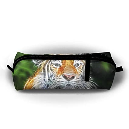 Estuche para lápices de tigre fluorescente con cremallera ...