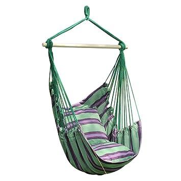 Amazon Com Yirish Prime Garden Hanging Rope Chair Cotton Padded