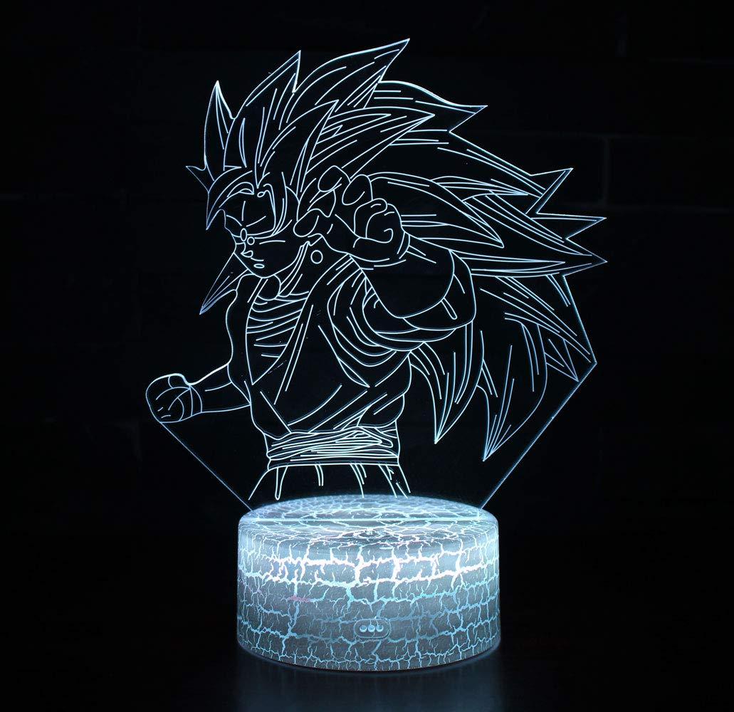 E 3D Optische Illusions-Lampen Win-Y LED-Schreibtisch Tischlampe 7 Farb-Touch-Lampen-Ausgang Schlafzimmer-B/üro-Dekor f/ür Kindergeburtstag Weihnachtsgeschenk